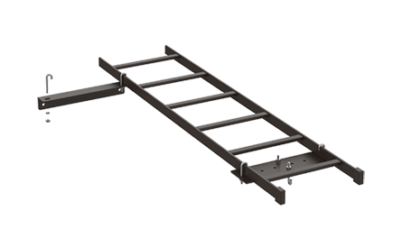 Mayer-Rack-to-Wall Kit, Black, Steel-1
