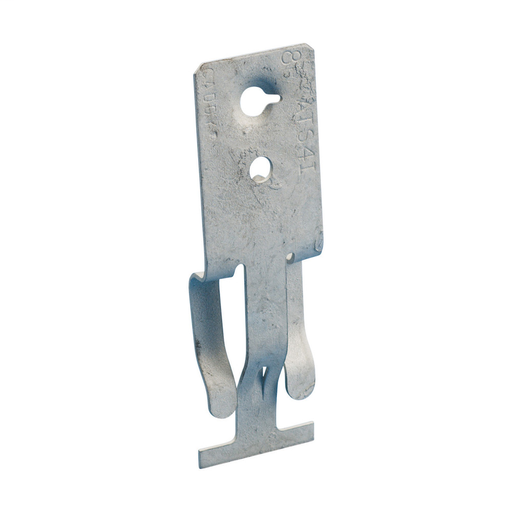 """T-Grid Clip, Side Mount, 1/4"""" Hole, Threaded"""