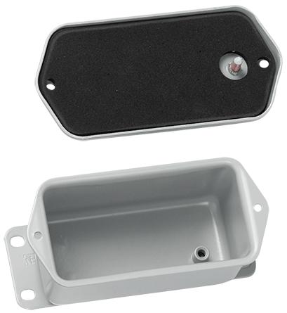 Screw Cover, Contoured, Type 4, 4.00x2.00x2.00, Gray, Steel