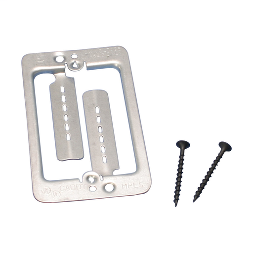 Mayer-Low Voltage Mounting Plate with Screws, 1 Gang-1