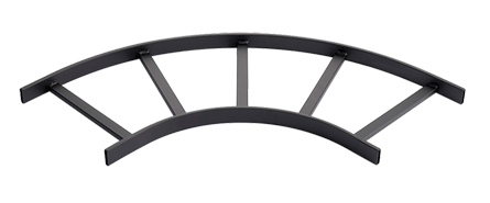 Mayer-90-Degree Horizontal E-Bend Section (cULus Classified), fits 12.00, Black, Steel-1