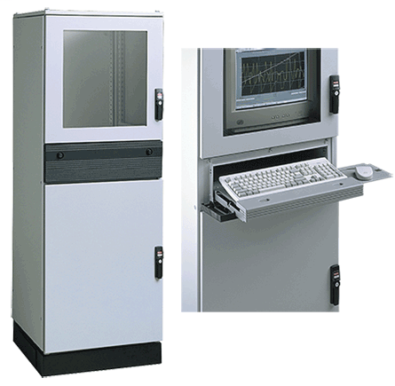 PROLINE-PC Modular Enclosure, Type 12, 1800x600x800mm, Lt Gray, Steel