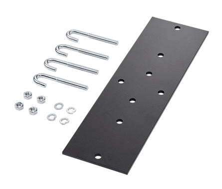 Mayer-Rack-to-Runway Mounting Plate Kit, Fits 12.00 and 18.00, Black, Steel-1