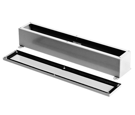 Screw Cover Wiring Trough, NEMA Type 12, 4.00x4.00x12.00, Gray, Steel