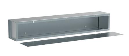 Wiring Trough, NEMA Type 1, 4.00x4.00x60.00, Gray, Steel