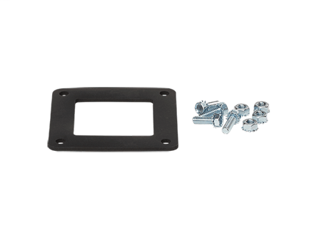 Gasket and Screws, fits 2.50x2.50, Rubber