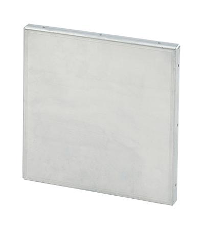 Mayer-Galvanized Closure Plate, 12.00x12.00, Steel-1