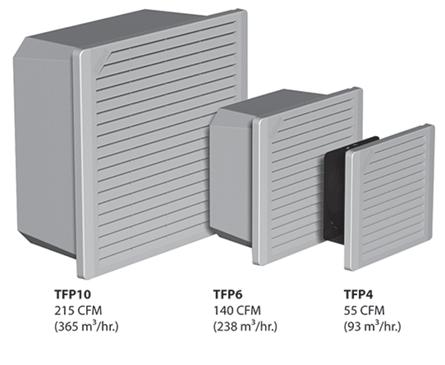 Mayer-TFP4 Side-Mount Filter Fan, 115V, 55 CFM, Composite, Type 1-1