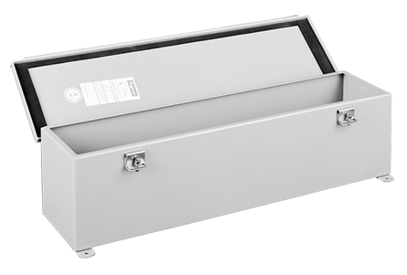 Hinged Cover Wiring Trough, NEMA Type 12, 2.50x2.50x18.00, Gray, Steel