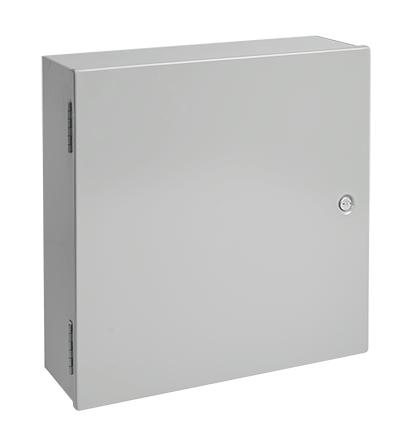 Medium Hinged-Cover, Type 1, 16.00x12.00x6.62, Gray, Steel