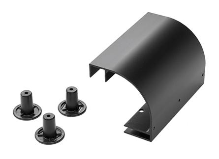 Stringer Radius Drop Kit, Black, Aluminum