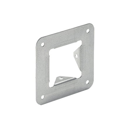 Galvanized Panel Adapter, 4.00x4.00, Steel