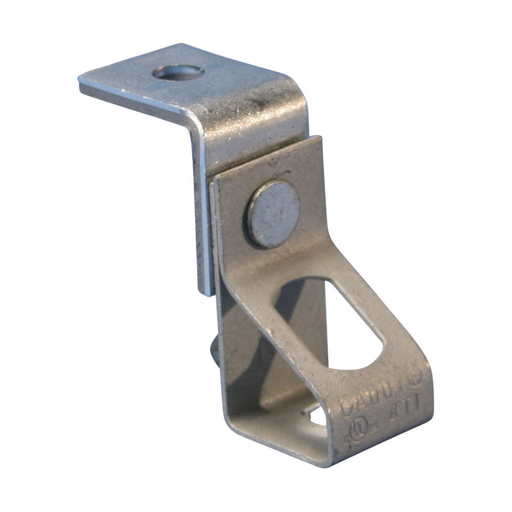"Mayer-Thread Install Rod Hanger with Angle Bracket, 0.25"" Hole 1, Plain, 0.25"" Hole 2, Threaded-1"