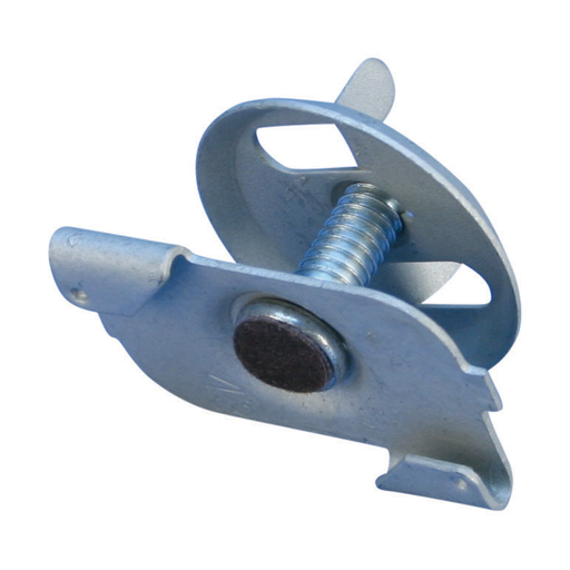 "PT16 Twist Clip for Wall Partition with Wing Nut, CADDY ARMOUR, Felt-Lined, 3/4"" Screw"