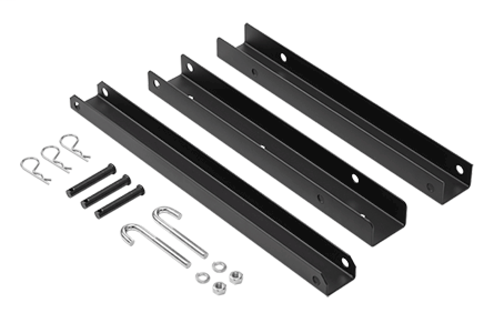 Modular Triangle Support Bracket Kit, fits 24.00, Black, Steel