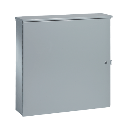 Mayer-T3-Box Telephone Cabinet, Type 3R, 36.00x36.00x12.00, Gray, Steel-1