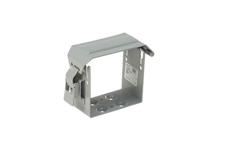 U-Connector, fits 8.00x8.00, Gray, Steel
