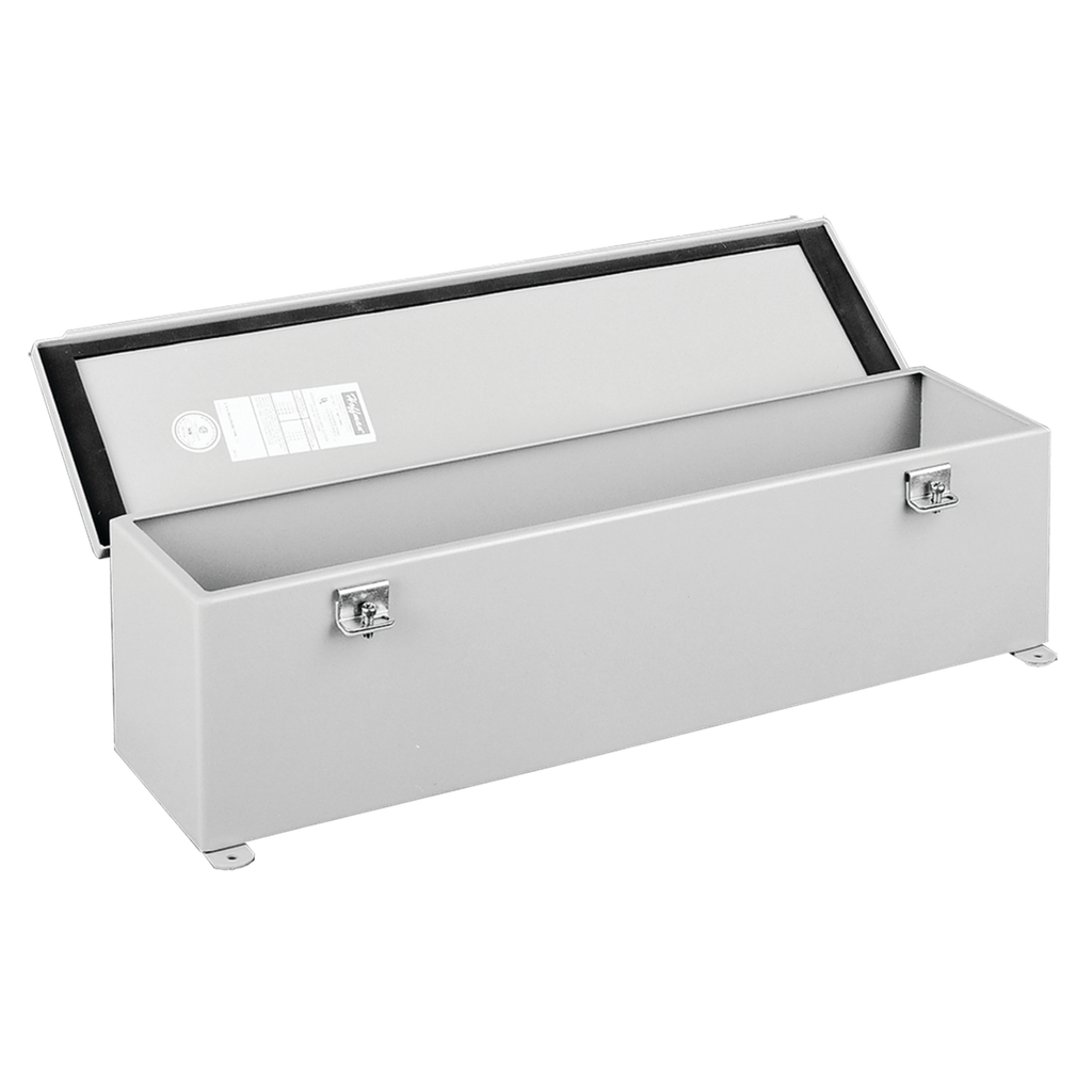 Mayer-Hinged Cover Wiring Trough, NEMA Type 12, 2.50x2.50x36.00, Gray, Steel-1