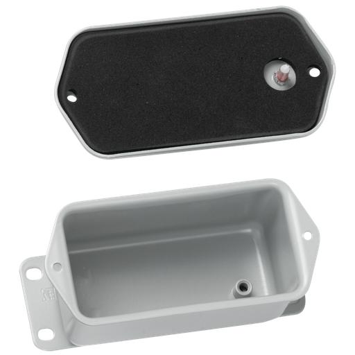 Screw Cover, Contoured, Type 4, 4.00x4.00x2.62, Gray, Steel