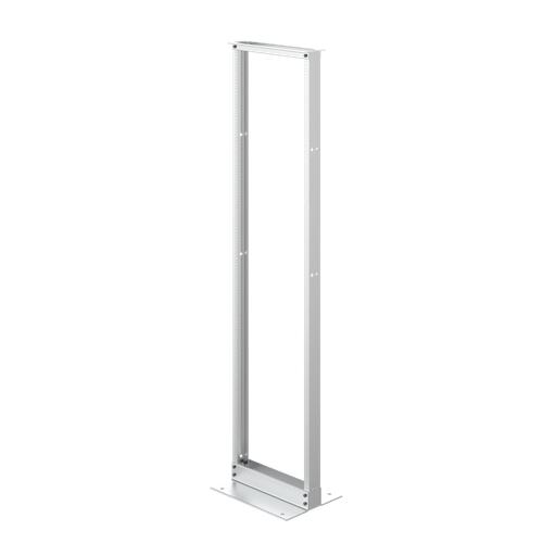 Mayer-2-Post Open Frame Rack, 84.00x20.25x15.00, Mill, Aluminum-1
