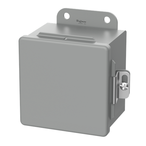 Continuous Hinge, Clamps, Type 12, 8.00x6.00x3.50, Gray, Steel