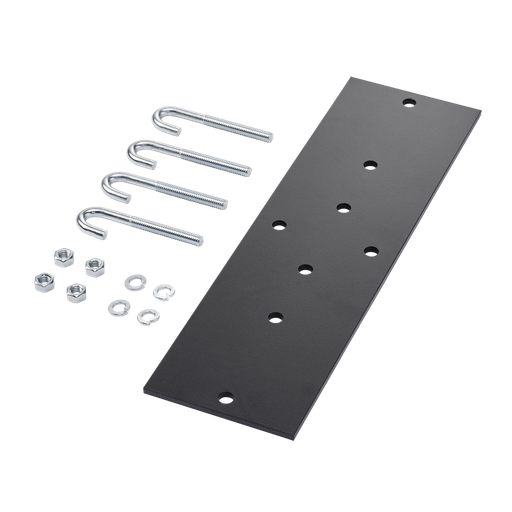 Rack-to-Runway Mounting Plate Kit, Fits 12.00 and 18.00, Black, Steel
