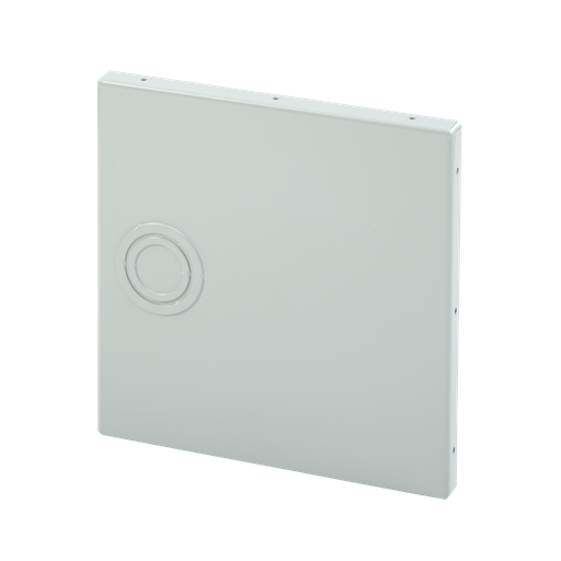 Mayer-Closure Plate with knockouts, 8.00x8.00, Gray, Steel-1