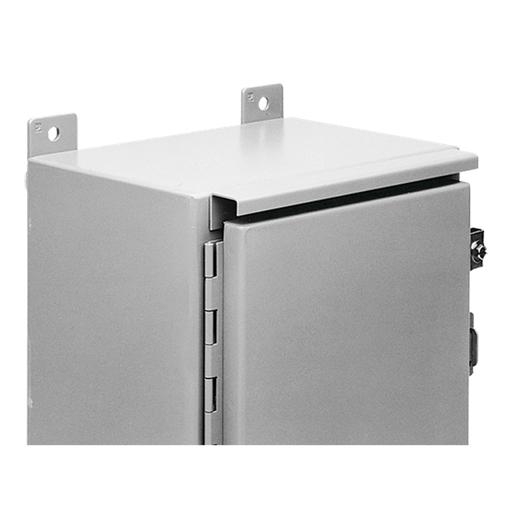 Drip Shield Kit for Single-Door Wall-Mount Enclosures, fits B=30.00, Gray, Steel