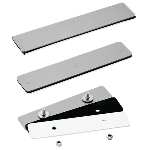 Blank Adapter Plates, Mild Steel, fits disc cutout, Gray, Steel