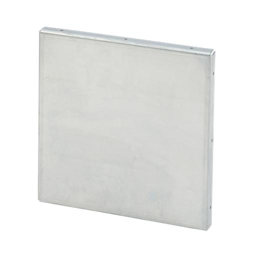 Mayer-Galvanized Closure Plate, 6.00x6.00, Steel-1