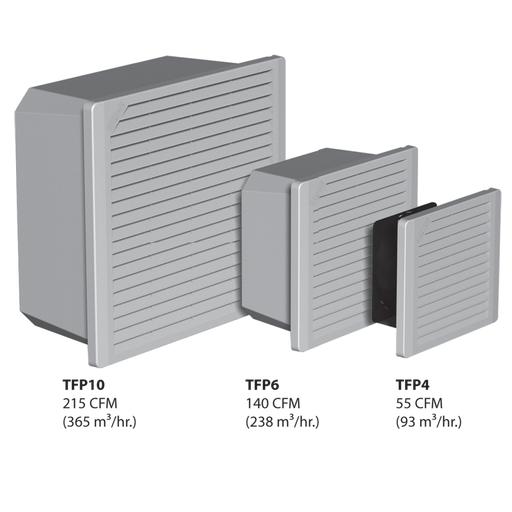 Mayer-TFP4 Side-Mount Filter Fan, 115V 55CFM, Composite, Type 1-1