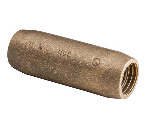 "Mayer-Threaded Coupler for Copper-Bonded Ground Rod, Threaded, Bronze, 3/4"" dia-1"