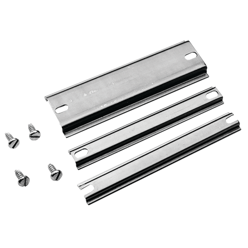 Compact DIN Type Rails, fits L=160mm, Steel