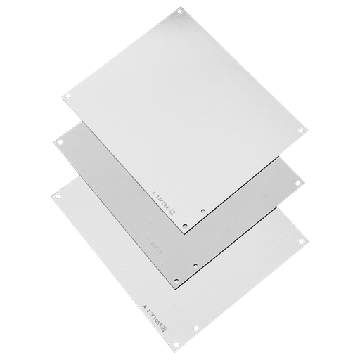 Mayer-Panels for Junction Box, fits 16x14, White, Steel-1