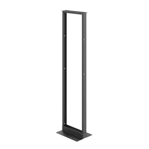 Mayer-2-Post Open Frame Rack, 84.00x20.25x15.00, Black, Aluminum-1