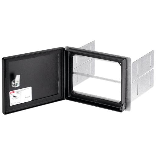 InterSafe Data Interface Port Disk Drive Enclosure, Black, Steel