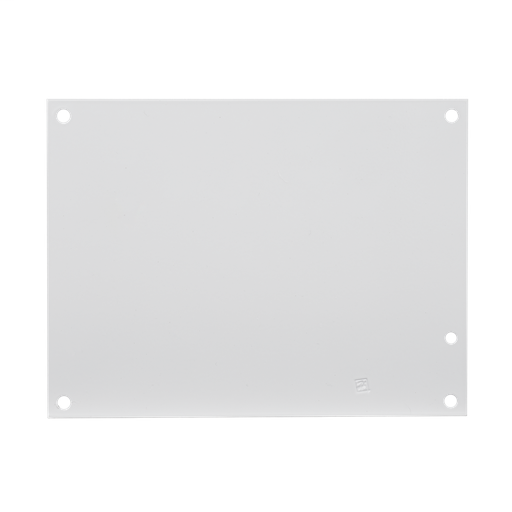 Mayer-Panel for Small Enclosure, Type 1 and 3R , fits 12x12, White, Steel-1