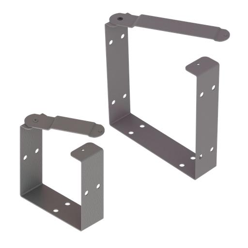 Mayer-Universal U-Connector, fits 8.00x8.00, Gray, Steel-1
