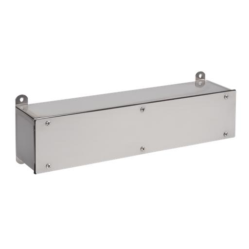 Screw Cover Wiring Trough, NEMA Type 4X, 12.00x12.00x24.00, Stainless Steel