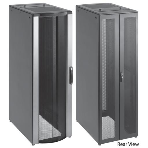 ProLine FloTek PC Server Cabinet, 2000x600x1000mm, Black, Steel, With Sides