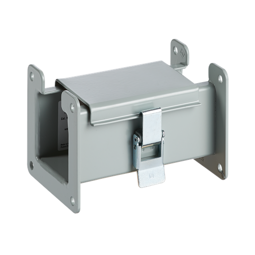 Straight Section, Lay-in Hinged-Cover, Type 12, 2.50x2.50x6.00, Gray, Steel