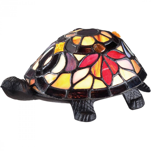 QUO TFX1519T FLOWER TURTLE TIFFANY LAMP 1-15W CAN BULB INCLUDED