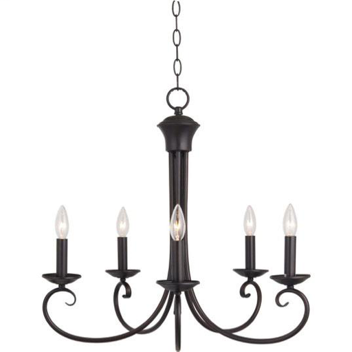 MAXIM 70005OI Loft 5-Light Chandelier 5-60 CAND