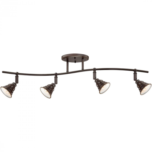 "QUO EVE1404PN 10-1/2"" HIGH 4-50 GU10 MR16 CEILING TRACK LIGHT"