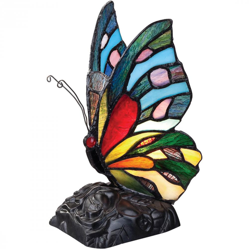 QUO TFX1518T RAINBOW BUTTER TIFFANY LAMP 1-15W CAN INCLUDED