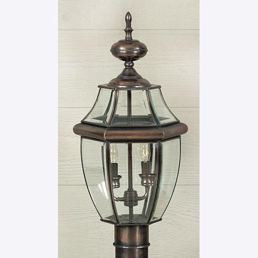 QUO NY9042AC NEWBURY OUTDOOR FIXTURE 21 H 11 D BRASS MATERIAL (2)60W B10