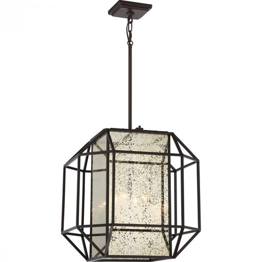 QUO CTO5204WT CAGE CHANDELIER W/4 LIGHTS