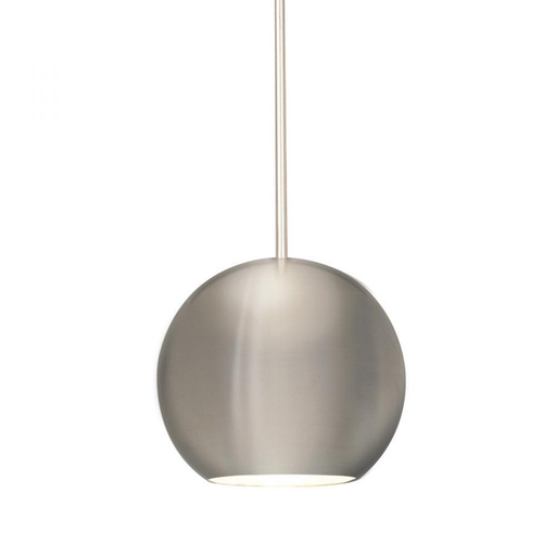 WAC QP-LED953-BN/BN BRUSHED NICKEL QUICK CONNECT LED PENDANT WITH BRUSH NICKEL 953 SHADE AND 5W 12V 3500K LEDS