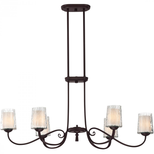 QUO ADS639DC ADONIS OVAL CHANDELIER DARK CHERRY (6-60CA)