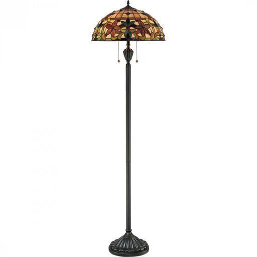 QUO TF878F TIF VINT BRZ FLOOR LAMP